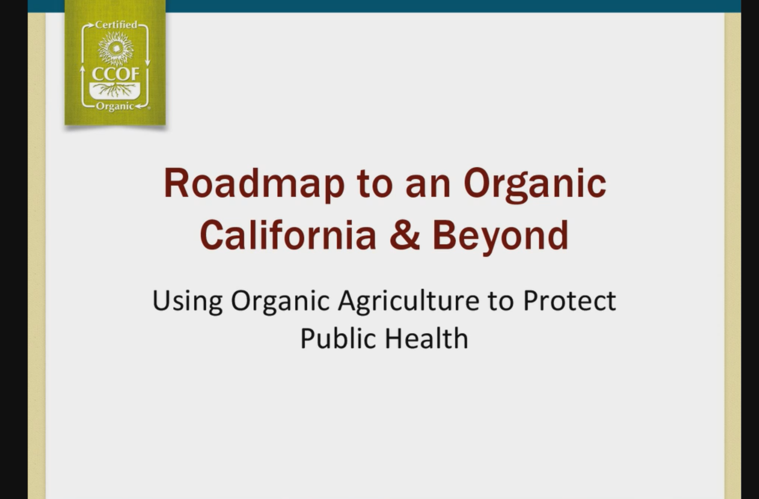 Green Tea Webinar Series: Roadmap to an Organic California & Beyond